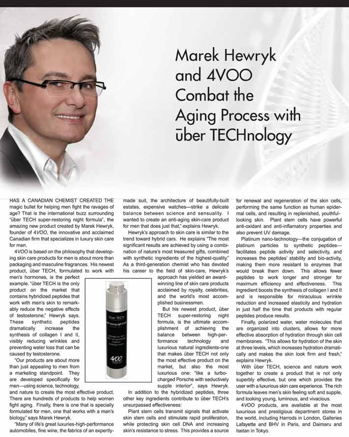 4VOO president Marek Hewryk talks about uber TECH under eye super-firm complex
