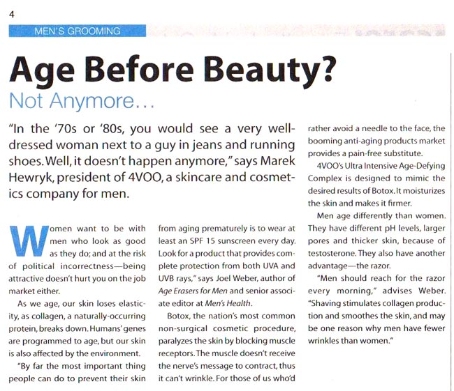 4VOO Ultra Intensive Age-Defying Complex review in USA Today
