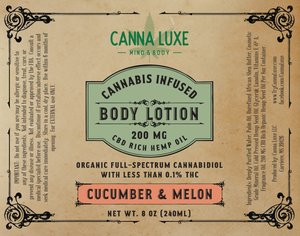 8oz Body Lotion - Cucumber Melon