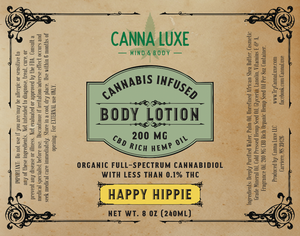 8oz Body Lotion - Happy Hippie