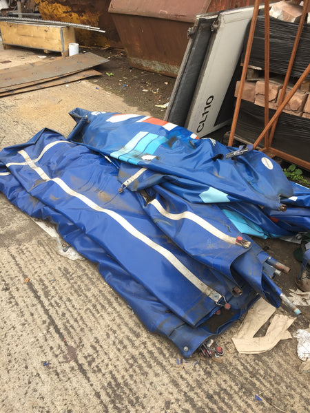 used lorry tarpaulins recycled by m-24
