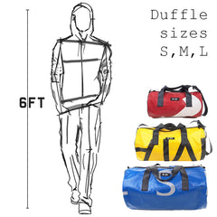 Duffle bag size vs person. M-24 tarpaulin duffles
