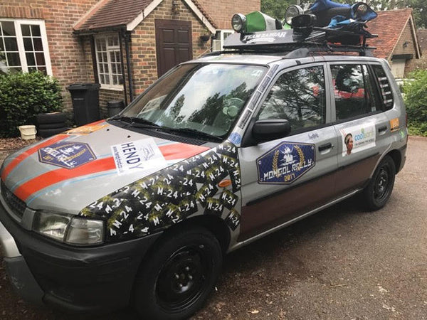 team zazgar ready to leave for the mongol rally