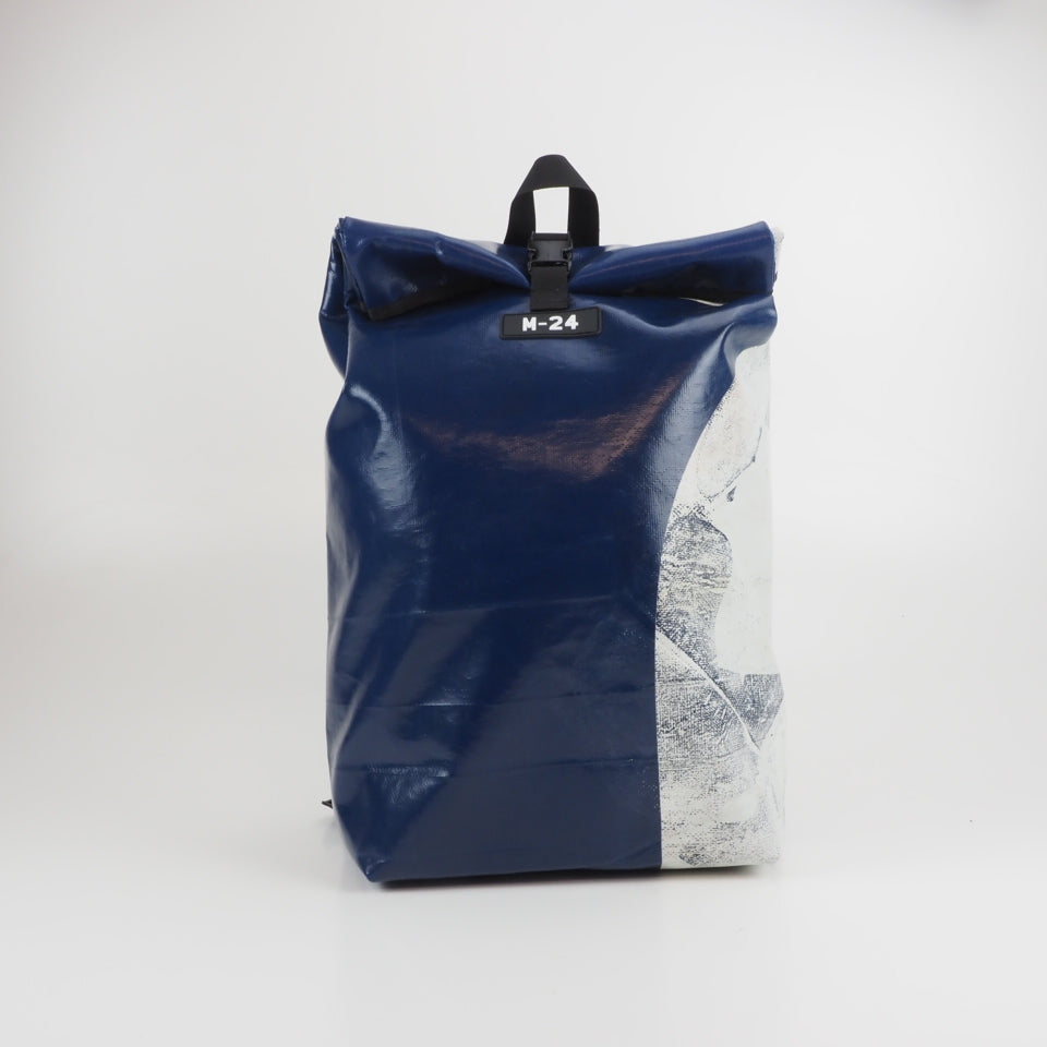 Large rolltop backpack - yellow and red - No.1122