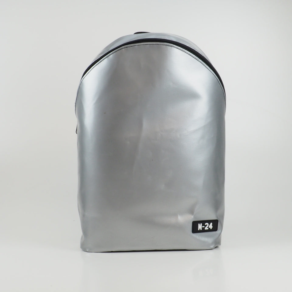 Large rolltop backpack - green and white - No.1238