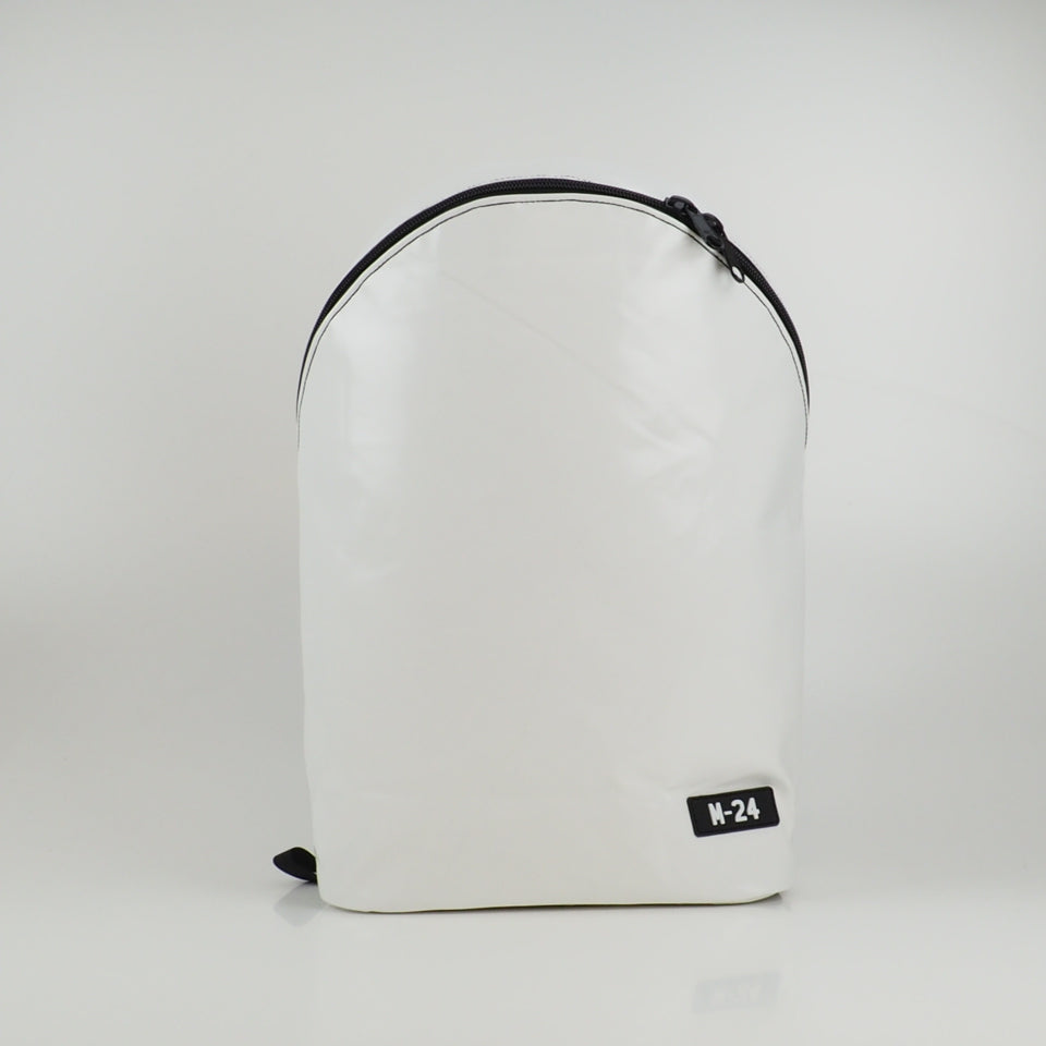 Large rolltop backpack - green and white - No.1213