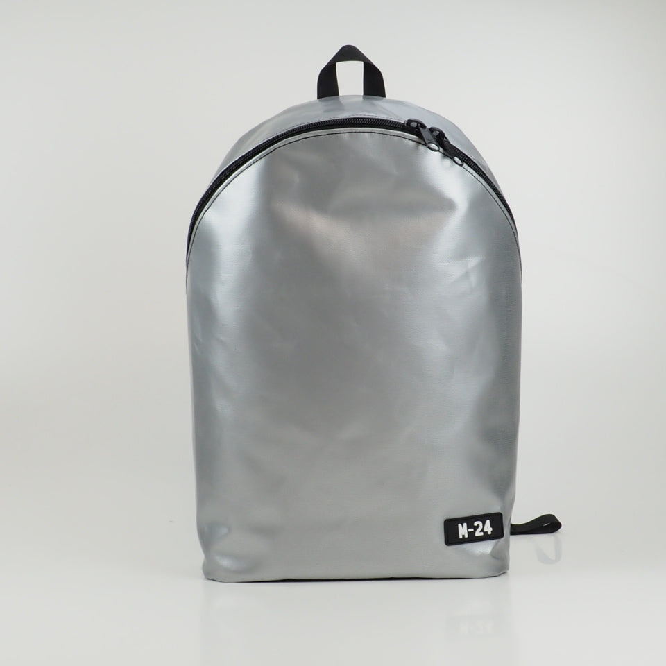 Large rolltop backpack - white and orange - No.1205