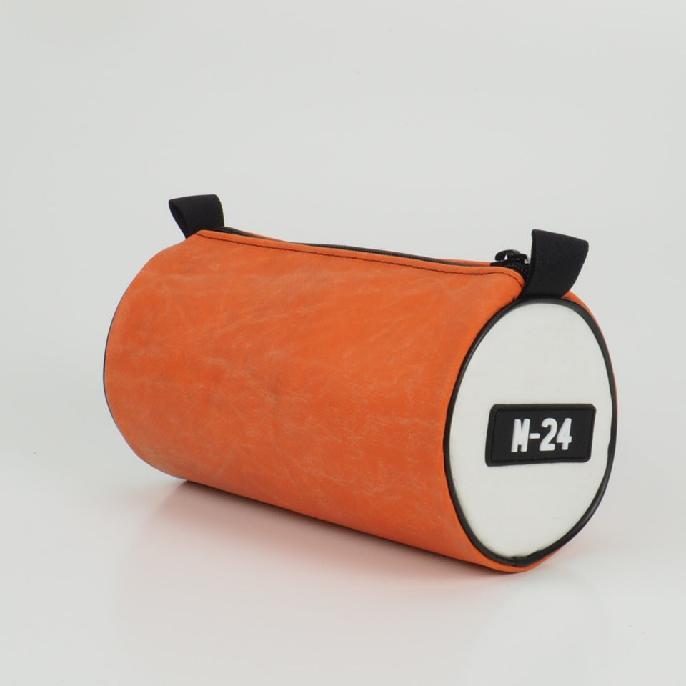 Duffle - white and orange - No.1319