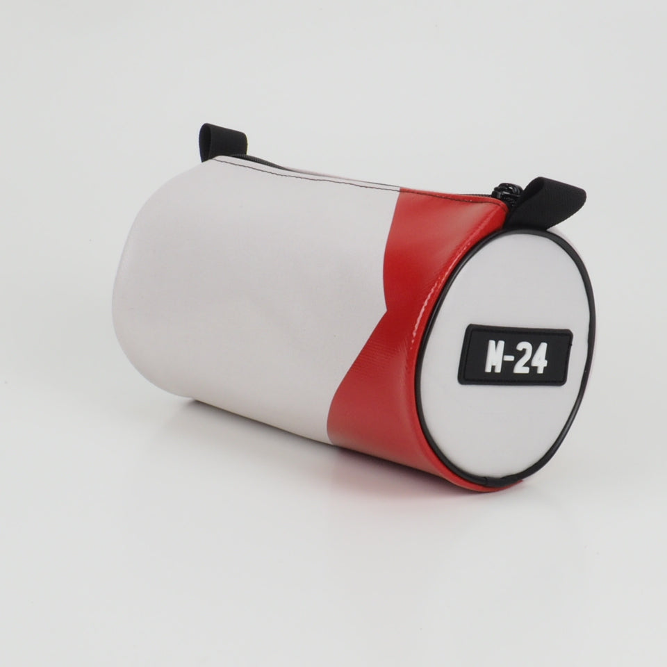 Duffle - white and orange - No.1317
