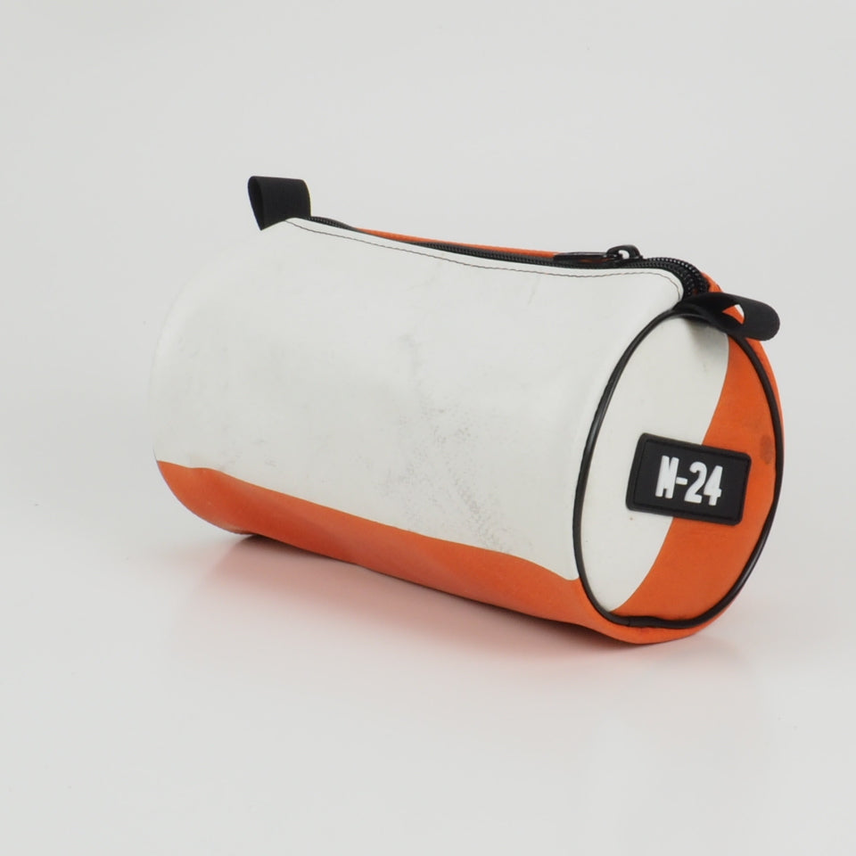 Duffle - white and orange - No.1310