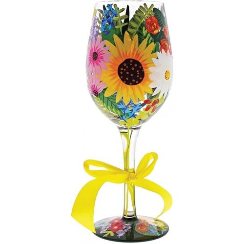 Lolita flower wine glass