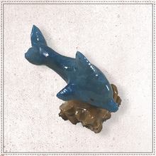 "Load image into Gallery viewer, 2"" Marble Dolphin (Blue)"