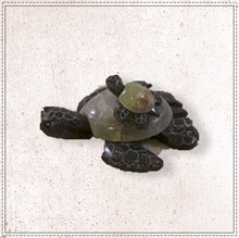 "Load image into Gallery viewer, 3.5"" Marble Turtle With Baby"