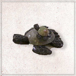 "3.5"" Marble Turtle With Baby"