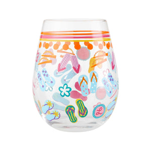 Flip Flops Stemless Wine Glass by Lolita