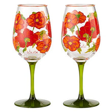 Load image into Gallery viewer, Lolita Best of the Bunch Poppy Acrylic Wine Glass! Set of 2