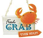 Crabs This Way Ornament