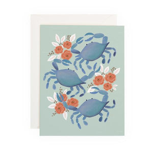 Greeting Card Blue Crab Trio