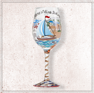 Anchor's Away Wine Glass by Lolita