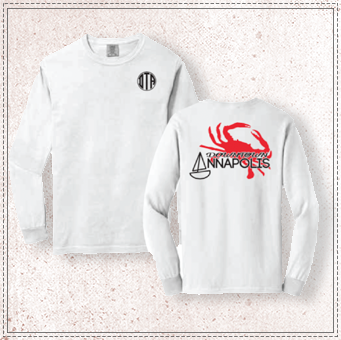 Annapolis Red Crab Comfort Colors Long Sleeve
