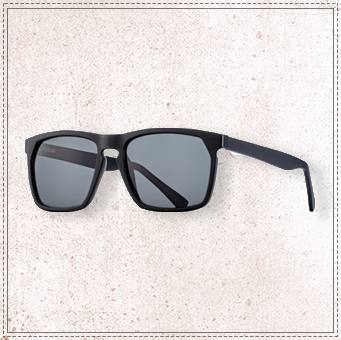 BLUE PLANET RANDALL-MATTE BLACK POLARIZED