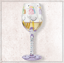 Load image into Gallery viewer, Bundle Of Joy Wine Glass By Lolita