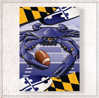 Ravens Sports Crab of Baltimore Garden Flag