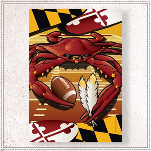 Redskins Sports Crab of Washington House Flag