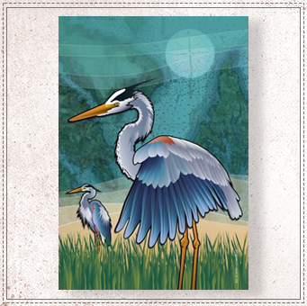 Coastal Blue Heron of the Chesapeake House Flag