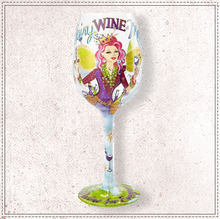 Load image into Gallery viewer, Fairy Wine Mother Wine Glass By Lolita