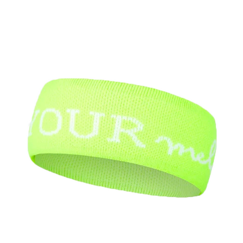 NEON GREEN LOGO HEADBAND