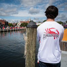 Load image into Gallery viewer, Annapolis Red Crab Long Sleeve Boat Shirt