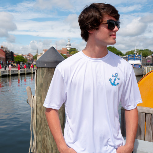 Blue Anchor Short Sleeve Boat Shirt