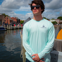 Load image into Gallery viewer, Mint Long Sleeve Crab Boater Shirt