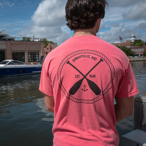 Annapolis Rope Logo Salmon Comfort Colors T-Shirt