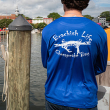 Load image into Gallery viewer, Brackish Life Royal Blue Performance UV Longsleeve