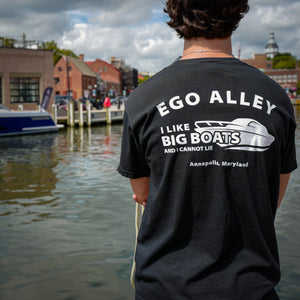 I Like Big Boats Black Comfort Colors T-Shirt