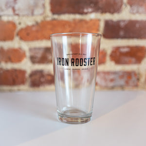 Pint glasses - Iron Rooster