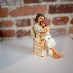 Woman and Child Figurine