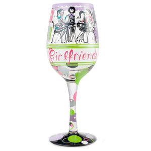 Girlfriends Together Wine Glass by Lolita