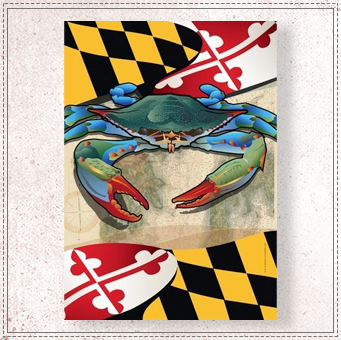 Maryland Blue Crab Large House Flag