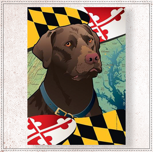 Maryland Chocolate Lab Garden Flag