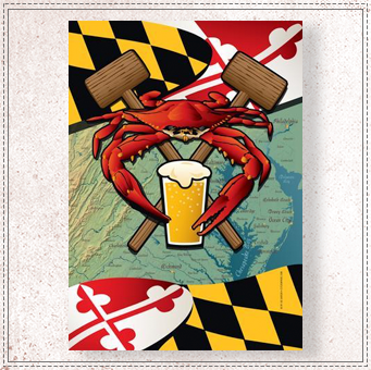 Maryland Crab Feast Garden Flag