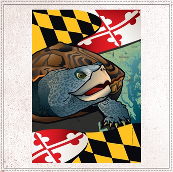 Maryland Terrapin Garden Flag