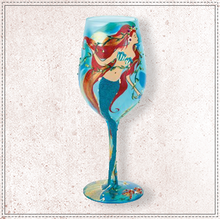 Load image into Gallery viewer, Mermaid Wine Glass By Lolita