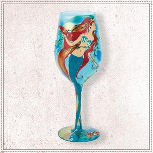 Mermaid Wine Glass By Lolita