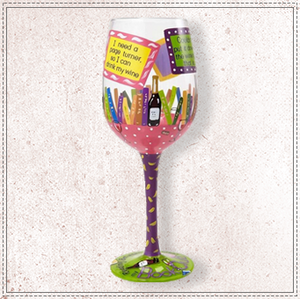 My Book Club Wine Glass by Lolita