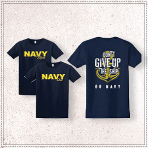 Navy Mom/Dad Comfort Colors T-Shirt