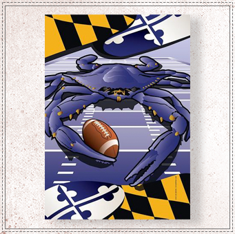 Ravens Sports Crab of Baltimore House Flag