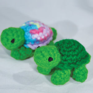 "3"" Hand Knitted Turtle"